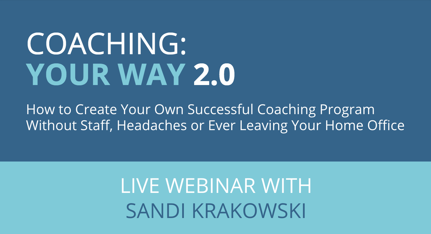 Coaching your way 2 0 how to create your own successful for Build your own house program